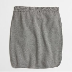 NWT J.crew gray french terry pencil skirt